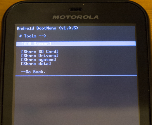 ADB Daemon in BootMenu