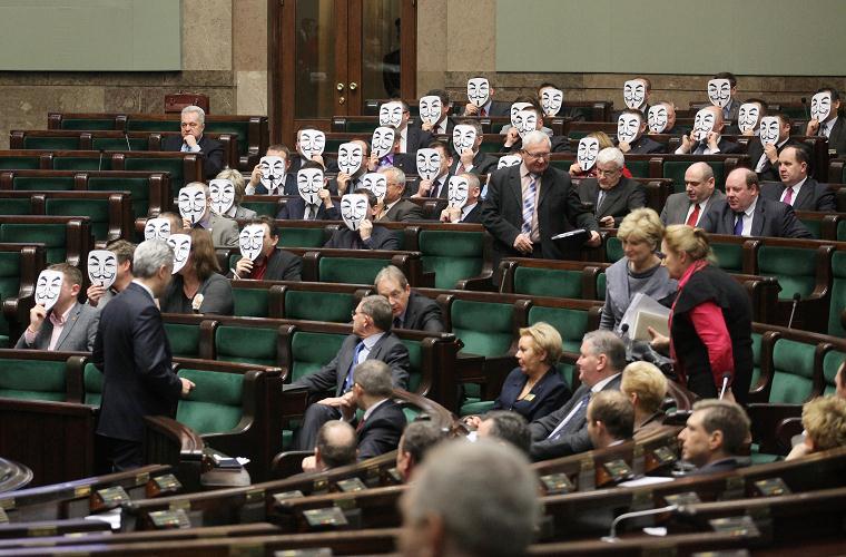 Anonymous w Sejmie